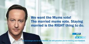 Cameron 'wooing the mum's vote'!!!!
